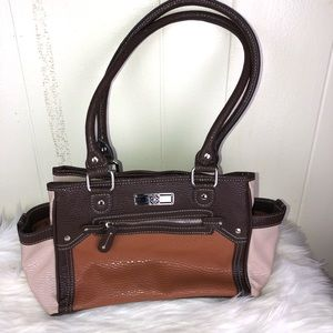 Leather like bag three huge compartments NWOT